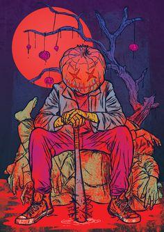 Jack Halloween by Ricardo Reis Illustration, via Behance
