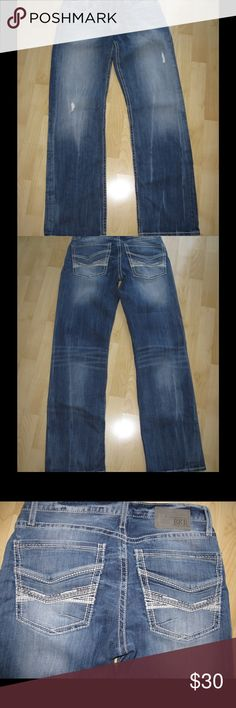 BKE Jake Distressed Thick Stitch Jeans Distressed thick stitch jeans. In very good condition. Ask any questions! 📦Same/ Next Day Shipping 🚫Paypal/ Trades ✅Bundles 🚫Smoke Free BKE Jeans Bootcut
