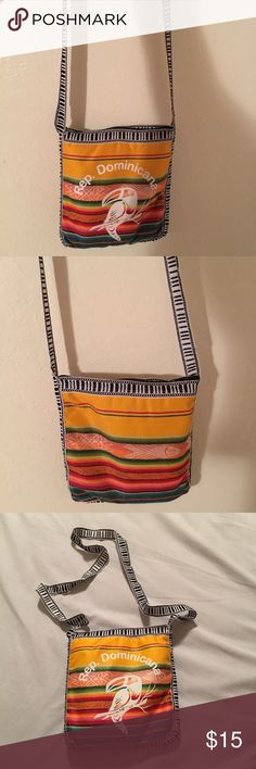 Republica Dominicana Sling Bag Gently used and needs a new home! My friend gave this to me when she came from her trip to the Dominican Republic; I no longer use it so I want someone else to give it the love I once gave it. ⛔️ NO TRADES, NO MERCARI, NO HOLDS ⛔️ smoke free, pet free home 😊 let me know if you have other questions 😊 PLEASE MAKE OFFERS THROUGH THE OFFER BUTTON.😊 Bags Crossbody Bags