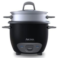 #7: Aroma ARC-743-1NGB 6-Cup (Cooked) Rice Cooker and Food Steamer , Black.