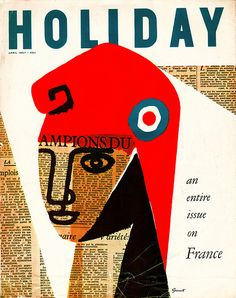 George Giusti Holiday Magazine Cover    April 1957.