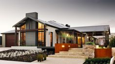 The Karridale Retreat - Holiday and Beach House Design Perth and Country WA - The Rural Building Co Country Builders, New Home Builders, Building Design, Building A House, Building Companies, Facade House, House Exteriors, Display Homes, Modern Exterior
