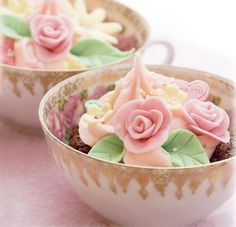 adorable! cupcake in a teacup