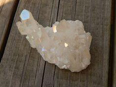 Genuine ANGEL AURA QUARTZ Cluster  Titanium Bismuth by esoTERRAca