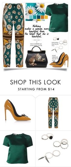 """""""Untitled #431"""" by zalarupar ❤ liked on Polyvore featuring Rupert Sanderson, Valentino and Dolce&Gabbana"""
