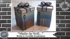 """Vidéo-Tuto """"Boîte à Double Explosion * Matin de Noël"""" par Coul'Heure Papier - YouTube"""