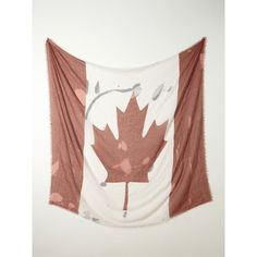 Free People Canada Flag Scarf ($38) found on Polyvore