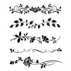 Thick stencil cm Bordure rose by Stamperia for Scrapbooks, Cards, & Crafting Back Tattoos, Mini Tattoos, Body Art Tattoos, Doodle Designs, Tattoo Designs, Flower Vine Tattoos, Best Friend Tattoos, Flowering Vines, Bullet Journal Ideas Pages