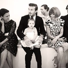 David Beckham with his adorable daughter Harper at #NYFW!