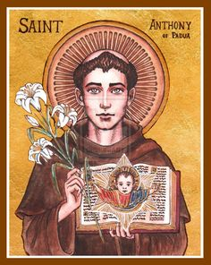 St. Anthony of Padua icon by Theophilia.deviantart.com on @deviantART