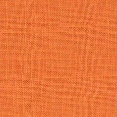 """Lincoln - Upholstery Fabric. Color: Tang  Width: 55"""" Content: 55% Linen 45% Viscose Repeat: V 0"""" H 0"""" Slubby linen look. Very versatile fabric. Because of the natural linen fiber, it will fade and wrinkle. Be sure to use drapery lining when making draperies.  Suitable for Drapery, Bedding, Pillows & Light Duty Upholstery. Lincoln Color: Tang (orange). Content: 55% Linen 45% Viscose.  Slubby linen look. Very versatile fabric."""