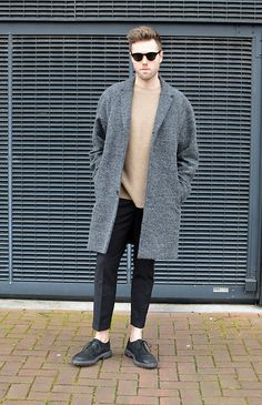 Get this look: http://lb.nu/look/8647533 More looks by Jordi: http://lb.nu/jordi_s Items in this look: Han Kjobenhavn Smith Sunglasses, Cos Coat, Filippa K Wool Jumper, H&M Trend Trousers, Marsèll Brushed Suede Shoes #hankjobenhavn #filippak #cos #ootd #streetstyle