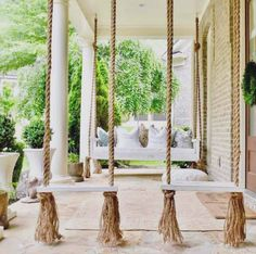 Awesome Farmhouse Porch Swing Decor Ideas What's not to love about a front porch swing? Relaxing, charming, and an invitation to your guests to come sit a spell. Few things add as much curb appeal, and even fewer do it… Continue Reading → Farmhouse Porch Swings, Front Porch Swings, Farmhouse Front Porches, Diy Front Porch Ideas, Porch With Swing, Backyard Porch Ideas, Front Porch Seating, Front Porch Design, Diy Porch