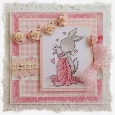 LOTV - Baby Rabbit with Country Meadow papers by DT Andrea