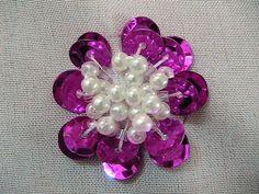 Bordado DIY, tutorial, artesanías hechas a mano y tal: Cómo coser lentejuelas flor