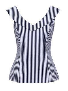 Jolene stripe top fashion outfits blouse, fashion e tops Blouse Styles, Blouse Designs, Blouse Outfit, Mode Inspiration, Cute Tops, Refashion, Dress Patterns, African Fashion, Designer Dresses