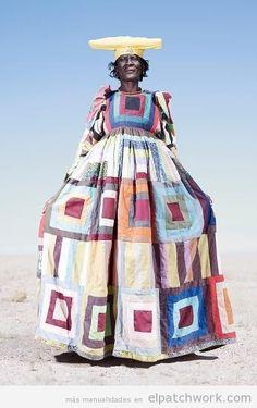 Vestido patchwork tribu Herero en Namibia