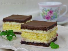 Maďarský krémeš - My site Sweet Recipes, Cake Recipes, Mini Desserts, Pavlova, Desert Recipes, Graham Crackers, Food Hacks, Nutella, Cheesecake