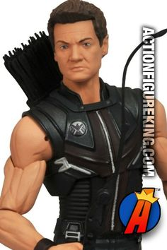 Marvel Select Avengers Movie Hawkeye action figure from Diamond Select Toys. This fully articulated Hawkeye figure is based on the likeness of actor Jeremy Renner. Please see our site for best pricing and availability. #hawkeye #avengersmovie #actionifigures #marvelselect