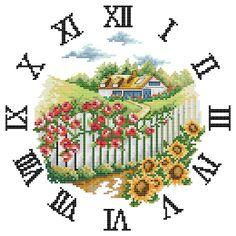 white fence Cross Stitching, Cross Stitch Embroidery, Embroidery Patterns, Hand Embroidery, Cross Stitch Love, Cross Stitch Charts, Modern Cross Stitch Patterns, Cross Stitch Designs, Easter Cross