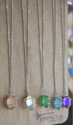 1 Sugary SEA GLASS Necklace perfect for the bridal party- YOU choose the color, custom initial, personalized jewelry, custom jewelry on Etsy, $4.99