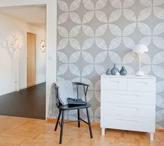 Vintage Leaf - Grey - Wall mural, Wallpaper, Photowall, Home decor, Fototapet, Valokuvatapetit