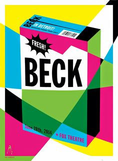 Beck Detroit Gig Poster. Kii Arens