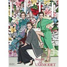 Elle Sweden February 2013 Frida Gustavsson, Moa Aberg, More Carl... ❤ liked on Polyvore