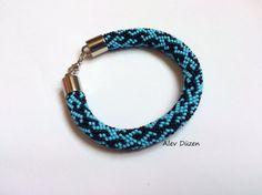 Bead Crochet Bracelet / Beaded Crochet Bracelet / by alevduzen