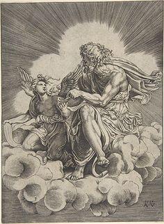 Saint Matthew - Agostino Veneziano (Agostino dei Musi) Catholic Art, Religious Art, Art And Illustration, Rennaissance Art, Black And White Art Drawing, Renaissance Kunst, Baroque Painting, Saint Matthew, Biblical Art