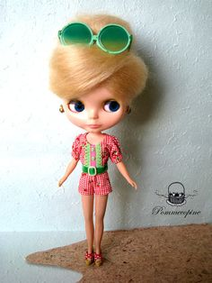Blythe outfit  Holiday Sweetheart 003 by by Pommecopine on Etsy, $20.00