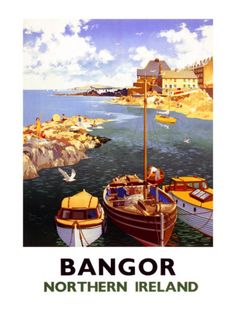 Vintage Travel Poster - Bangor, Northern Ireland