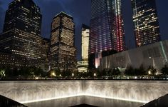 Beautiful view of NYC and the 9/11 memorial (part of it)