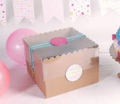 Resultado de imagen de decoracion caja  acetato y carton transparente