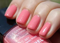 Chanel Morning Rose (Pink/Coral/Peach nail polish)