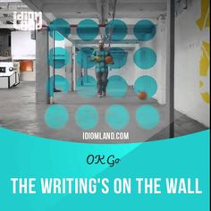 """""""Writing is on the wall"""" means """"there are clear signs that something will fail"""".  Lyrics from """"The Writing's On the Wall"""" by OK Go: The writing's on the wall - it seems like forever since we had a good day. The writing's on the wall.  #idiom #idioms #slang #saying #sayings #phrase #phrases #expression #expressions #english #englishlanguage #learnenglish #studyenglish #language #vocabulary #efl #esl #tesl #tefl #toefl #ielts #toeic"""