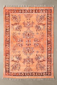 Shop Ziba Chenille Rug at Urban Outfitters today. Fall Living Room, Living Room Update, Funky Rugs, Urban Outfitters, Rugs And Mats, Classic Rugs, Rustic Rugs, Border Design, Warm Colors