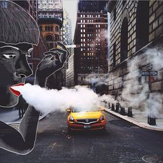 Czech Animator Adds Her Witty Illustrations To Photos Of New York | Bored Panda