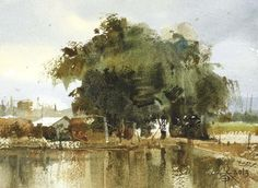Chien Chung Wei,  Scenery of Countryside 鄉村風光 18.3 × 13.2cm