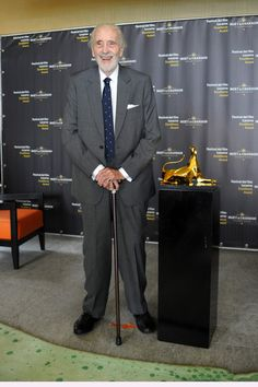 Sir Christopher Lee poses with the Pardo D'Oro 'Excellence Award Moet & Chandon' during Locarno Film Festival on August 2013 in Locarno, Switzerland. Locarno Film Festival, Excellence Award, Moet Chandon, Awards, Daughter, Poses, Actors, Celebrities, Switzerland