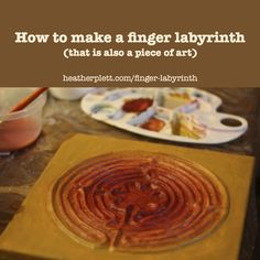 Make a simple finger labyrinth with easy-to-access materials and use it as a meditation tool or hang it as a piece of art.