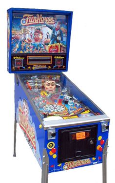 Funhouse Pinball with Rudy! This was a processor to Road Show pinball with two talking heads.  Both fantastic games.