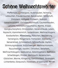 Schöne Wörter Weihnachten | schöne Weihnachtswörter | waseigenes.com