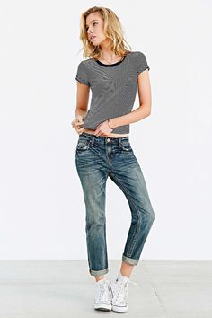 BDG Slim Boyfriend Jean - love original converses this whole styleoutfit