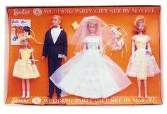 *1964 Wedding party Barbie, Ken, Midge & Skipper dolls 2 #1017