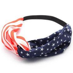 American Flag Sporting Sweatband