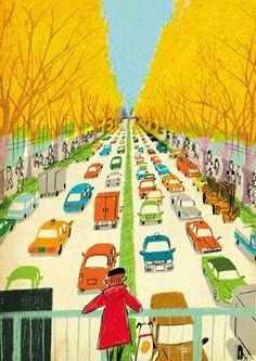 illustration by Atsushi Hara Creation Art, Perspective Art, Elementary Art, Book Illustration, Art Education, Oeuvre D'art, Art Lessons, Illustrations Posters, Illustrators