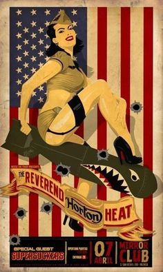 reverend horton heat - I had no idea this existed! Based on a photo of me by Roy Varga . ASAP Rocky Music Poster 36 x… - © COPYRIGHT - Pin Up Girl Vintage, Art Vintage, Vintage Posters, Vintage Metal Signs, Retro Pin Up, Pin Up Posters, Rock Posters, Music Posters, Concert Posters