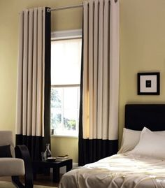Grommet Panels with a grand band - modern - window treatments - tampa - Curtain Pros