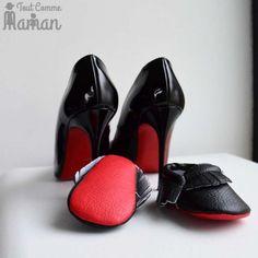 b642564fba06d Chaussure bébé style louboutin semelle rouge - Tout Comme Maman Vetement  Mere Fille
